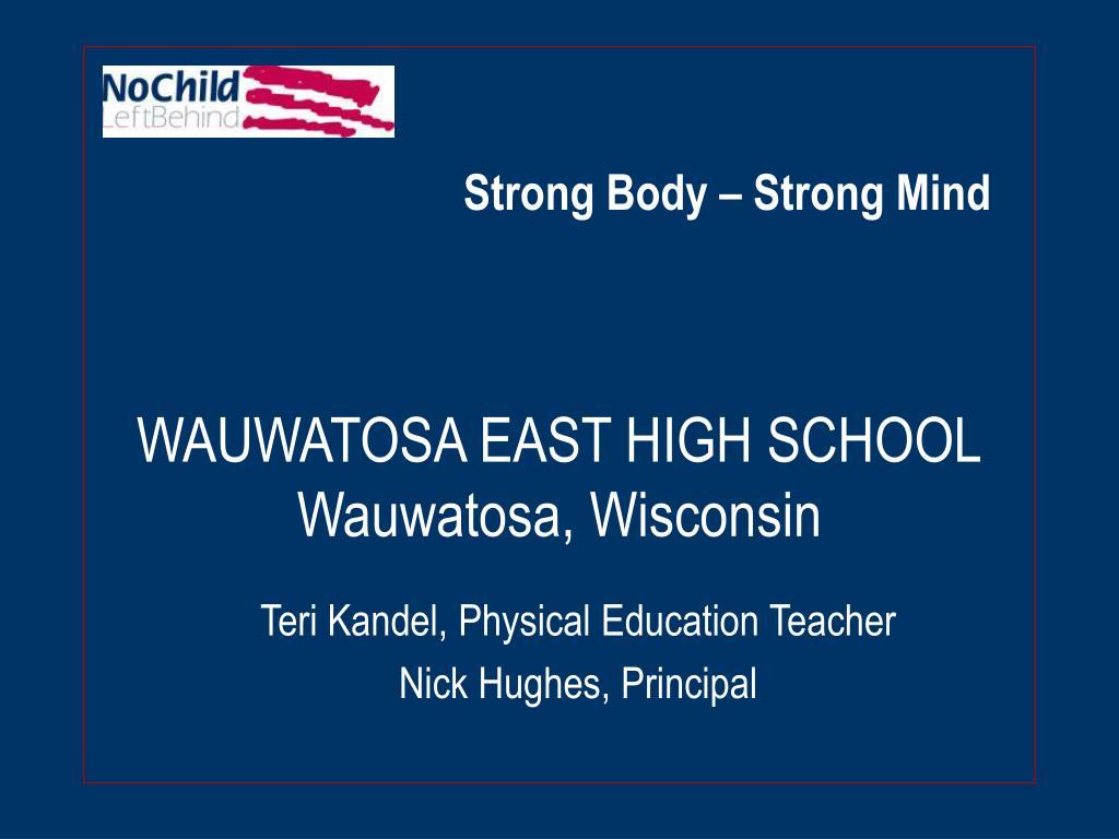 wauwatosa east high school wauwatosa wisconsin l.