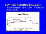 lev test fleet nmog emissions
