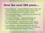 over the next 300 years