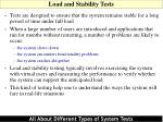 load and stability tests