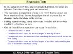 regression tests