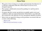 stress tests