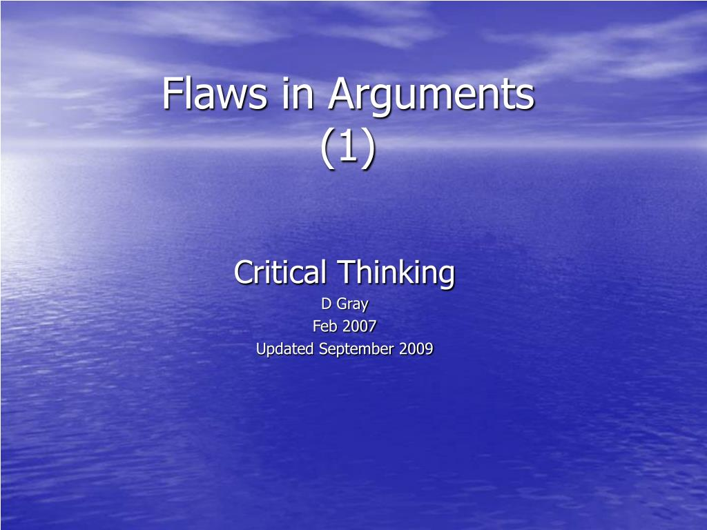 flaws in arguments 1 l.
