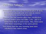post hoc fallacy9