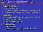 gelled electrolyte gel