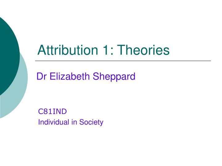 attribution theory definition Attribution theory is used to explain how people, who inherently work to organize and understand their life experiences, will.