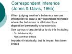 correspondent inference jones davis 1965