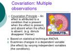 covariation multiple observations