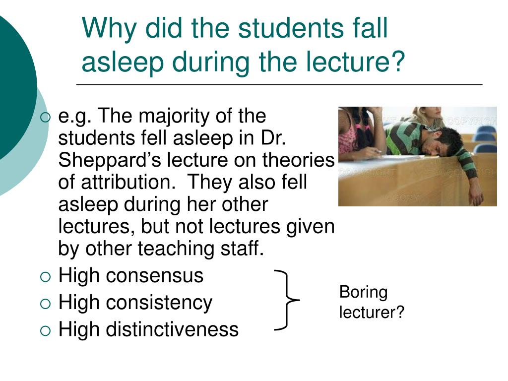 Why did the students fall asleep during the lecture?