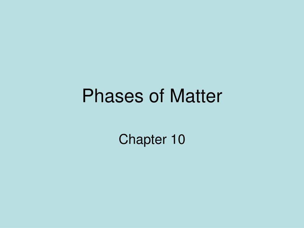 phases of matter l.