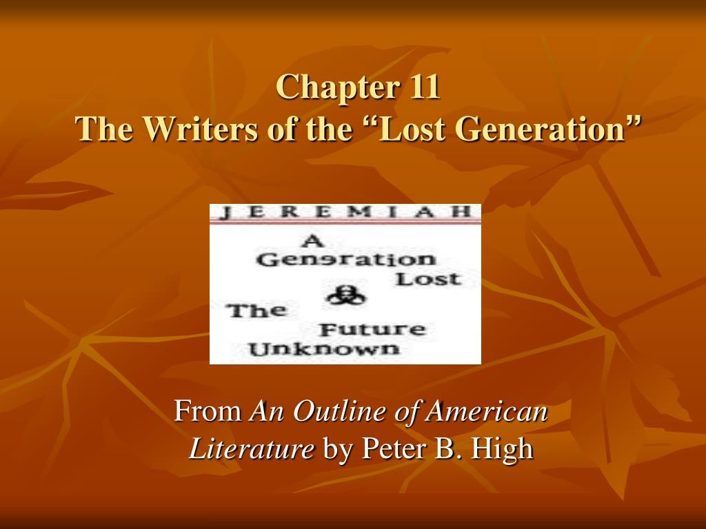 chapter 11 the writers of the lost generation l.