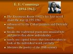 e e cummings 1894 1962