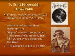f scott fitzgerald 1896 1940