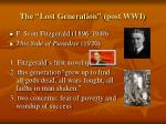 the lost generation post wwi