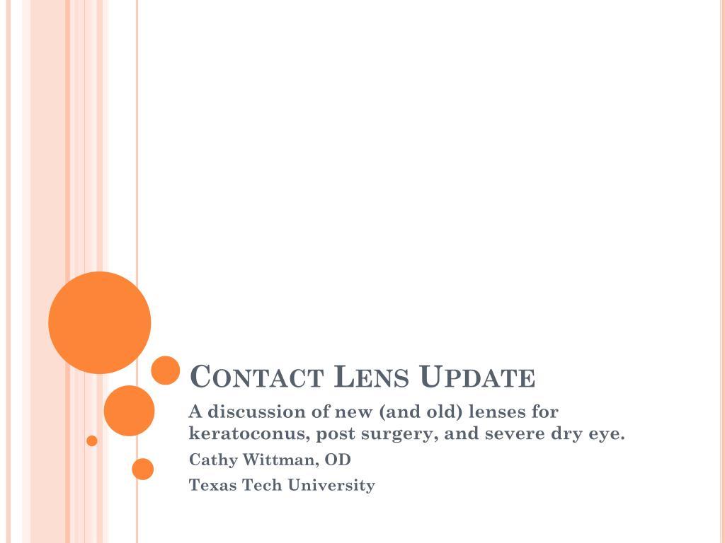 contact lens update l.