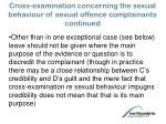 cross examination concerning the sexual behaviour of sexual offence complainants continued66