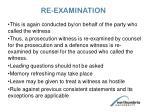 re examination