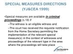 special measures directions yj cea 1999