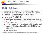 2054 efficiency