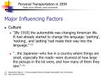 major influencing factors6