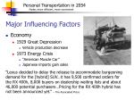major influencing factors8