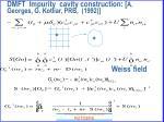 dmft impurity cavity construction a georges g kotliar prb 199230