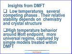 insights from dmft