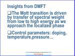 insights from dmft59