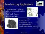 auto mercury applications