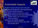 automobile impacts
