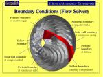 boundary conditions flow solver