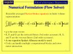 numerical formulation flow solver