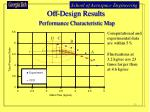off design results performance characteristic map