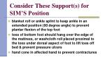 consider these support s for sim s position50