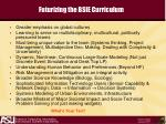 futurizing the bsie curriculum