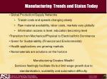 manufacturing trends and status today