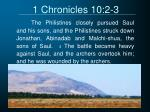 1 chronicles 10 2 3