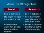 jesus the stronger man