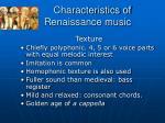 characteristics of renaissance music8
