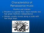 characteristics of renaissance music9