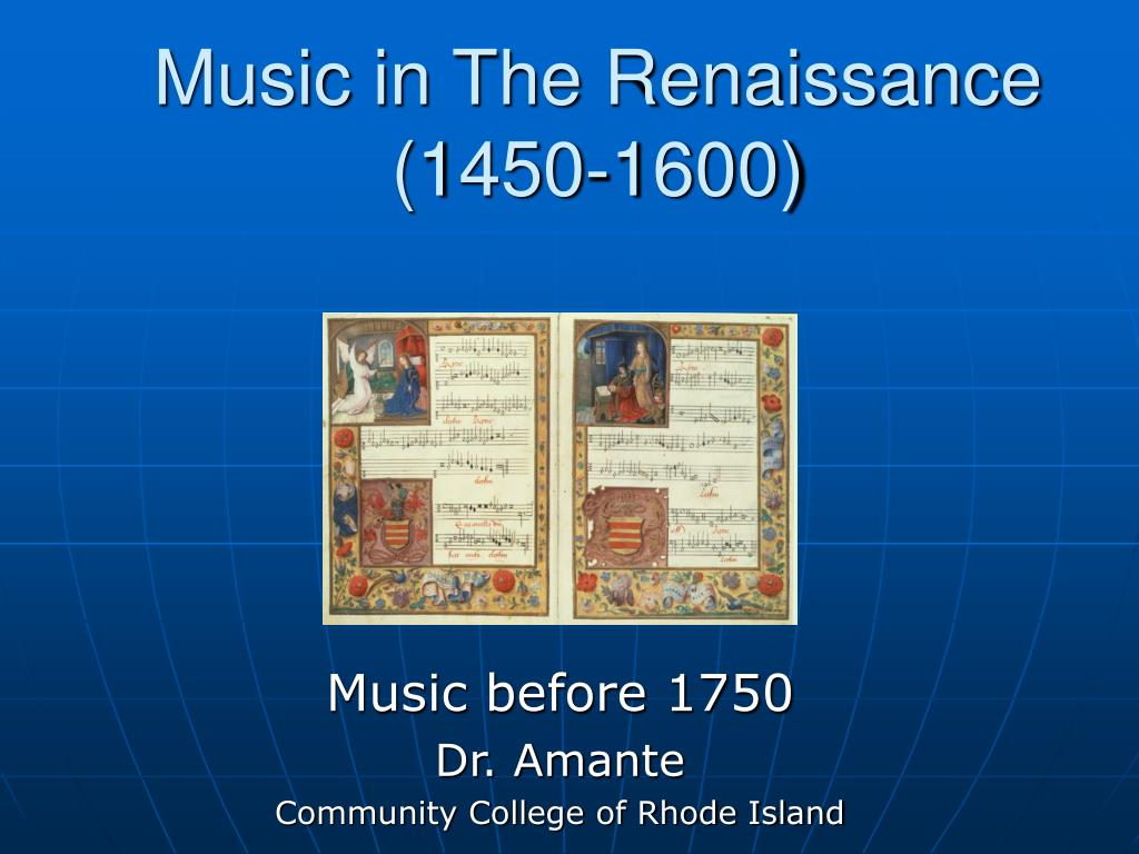 music in the renaissance 1450 1600 l.