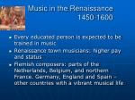 music in the renaissance 1450 16006