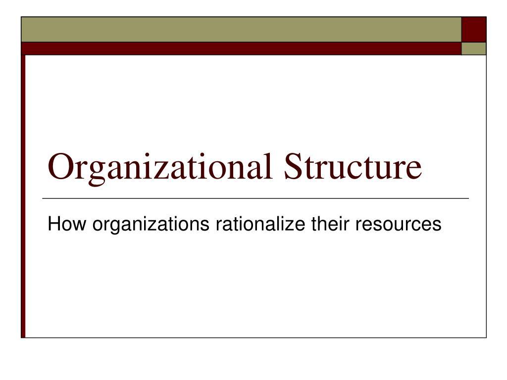 organizational structure l.