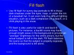 fill flash