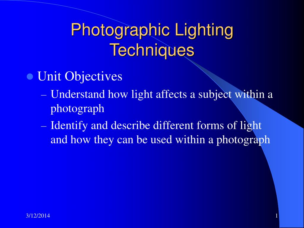 photographic lighting techniques l.