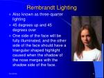 rembrandt lighting