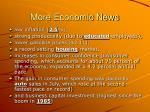 more economic news