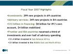 fiscal year 2007 highlights