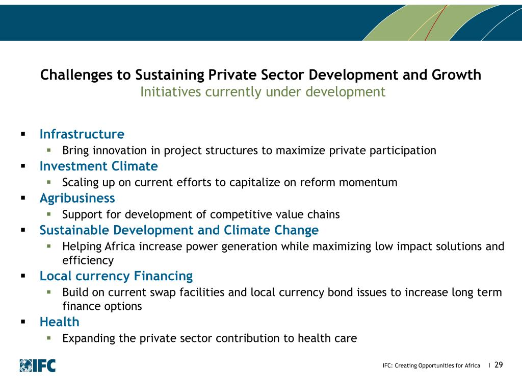 PPT - IFC Creating Opportunities through the Private Sector