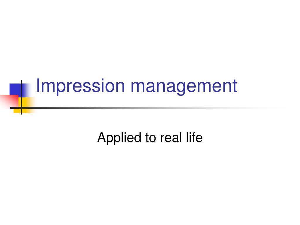 impression management l.